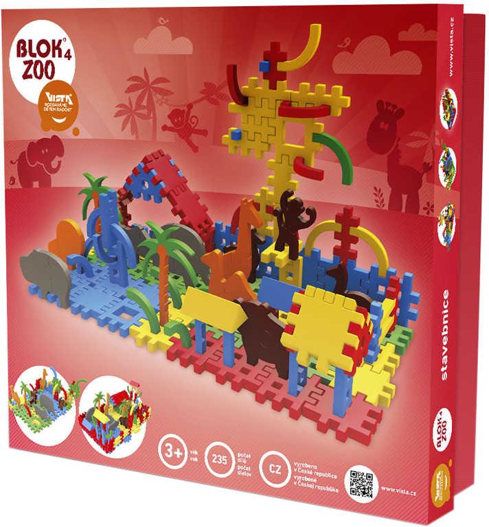 VISTA BLOK 4 Zoo plastová STAVEBNICE 235 dílků